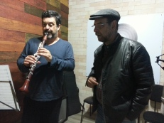 o clarinetista Paulo Moraes, EFrank
